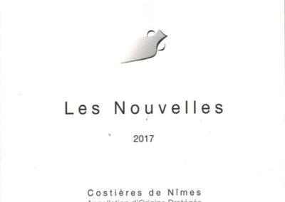 AOP Costières de Nîmes Les Nouvelles sans sulfites rouge AB