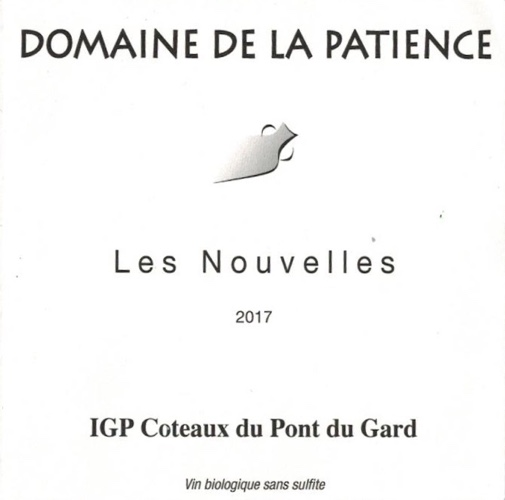 IGP Coteaux du Pont du Gard, Chardonnay sans sulfites, AB